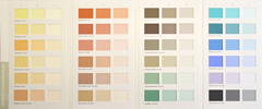 barvna karta pigmenti v stenski barvi